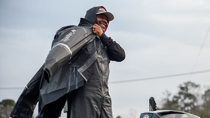 Columbia angler Mark Daniels Jr prepares to go fishing.