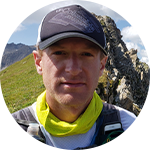 Close-up portrait of trail runner Willie McBride.