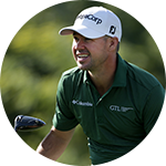 Close-up portrait of Brian Harman in Columbia golf gear.