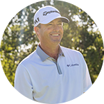 Close-up portrait of Ryan Palmer in Columbia golf gear.