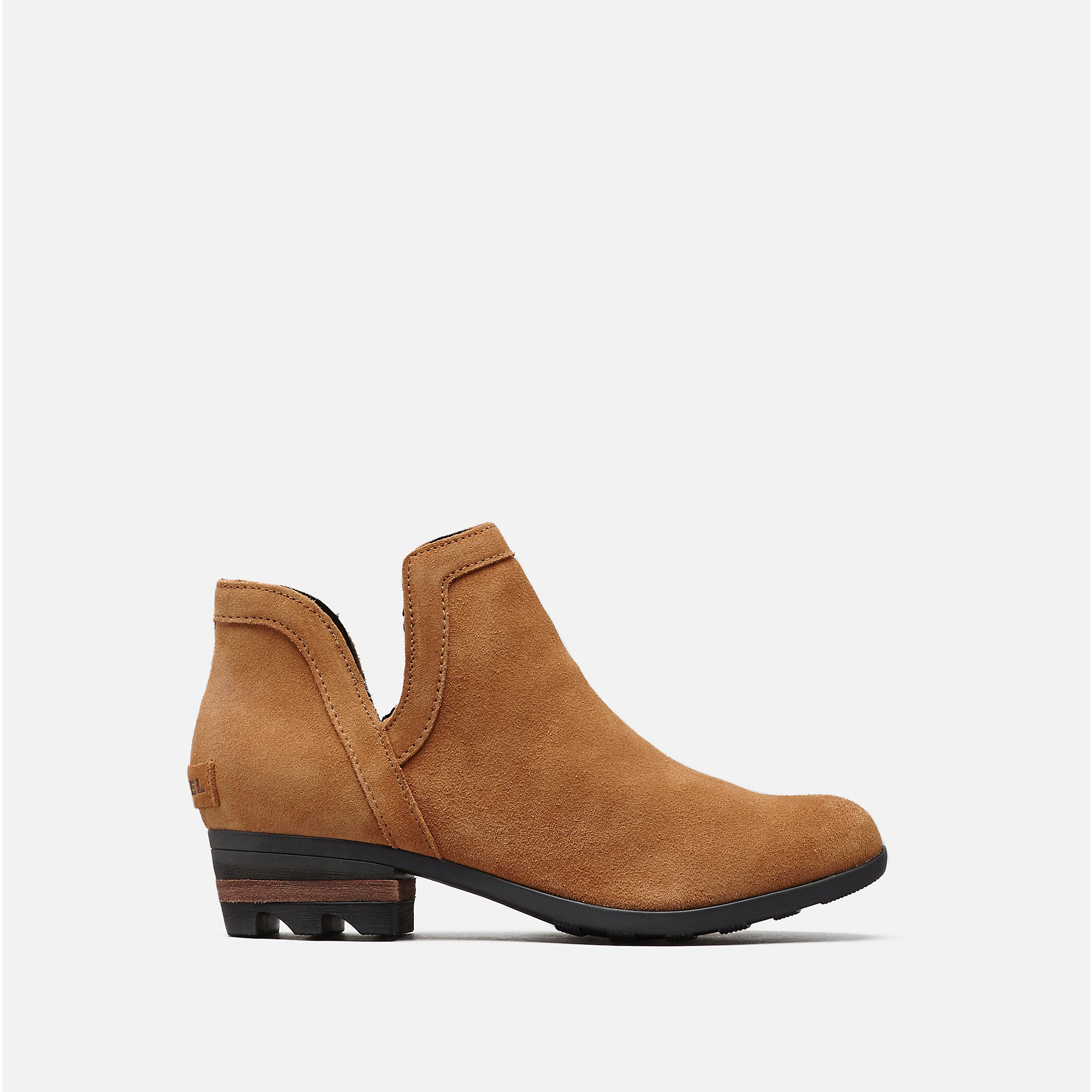 LOLLA CUT OUT BOOTIE | Camel Brown