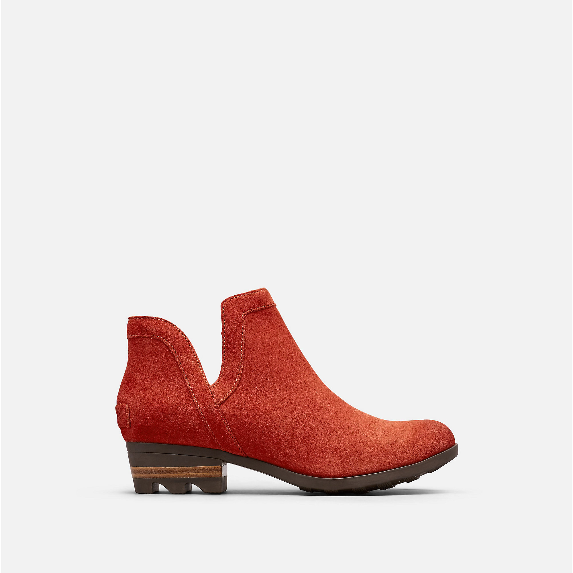 LOLLA CUT OUT BOOTIE | Carnelian Red