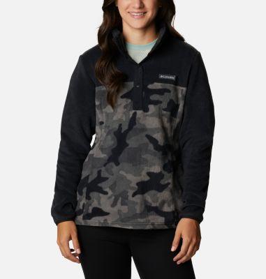 Columbia Women's Benton Springs Printed Half Snap Fleece Pullover-