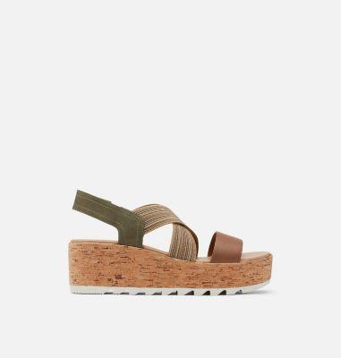 Sorel Womens Cameron Flatform Slingback Wedge Sandal-