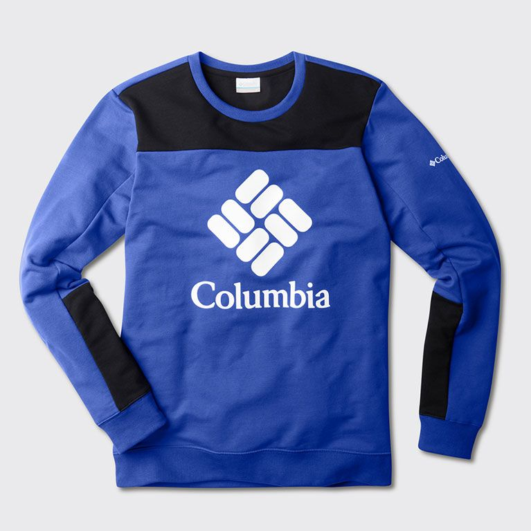 a Columbia logo sweatshirt