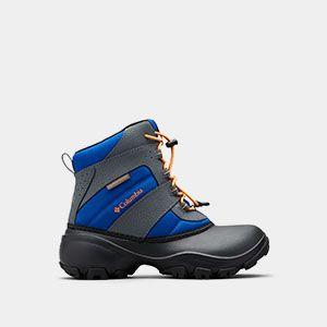 A kids snow boot.