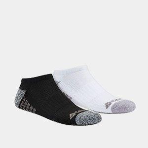 Black and white socks.