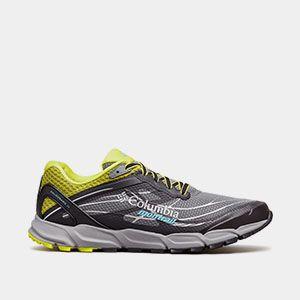 A trail running shoe.