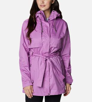 Bright purple raincoat