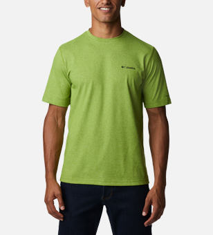 Man in a green shirt.