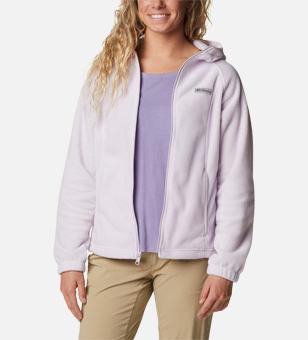 Light pink fleece zip-up