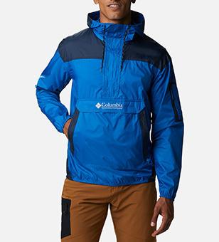 Man in a blue jacket