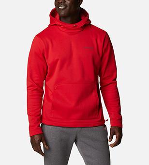 Man in a red sweatshirt