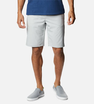 Man in a gray shorts