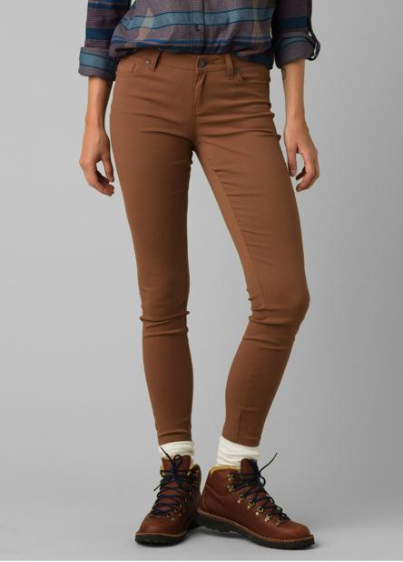 A woman wearing, skinny-fit Briann Pants.