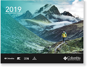Cover of the 2019 Columbia Corporate Responsibility Report.
