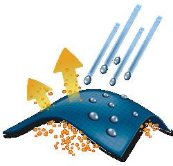 Illustration of waterproof tech.