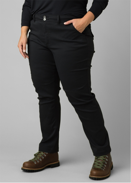 A woman wearing, the straight-fit Halle Straight Plus.