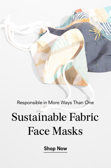 Banner representing prAna's sustainable fabric face masks.