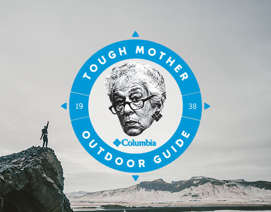 Tough Mother Outdoor Guide logo with Gert Boyle's face.
