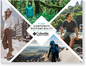 Cover of the 2018 Columbia Corporate Responsibility Report.