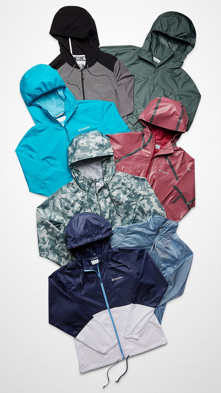 Top-down image of jackets.