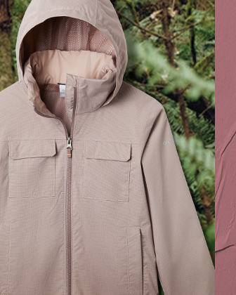 A laydown of a kids' pink jacket