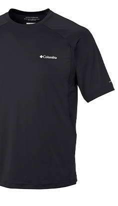 A polo shirt with Freezer Coil technology.