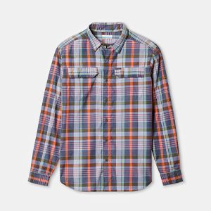 A plaid long-sleeved shirt.