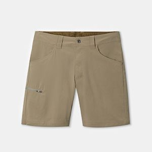 A pair of khaki shorts.
