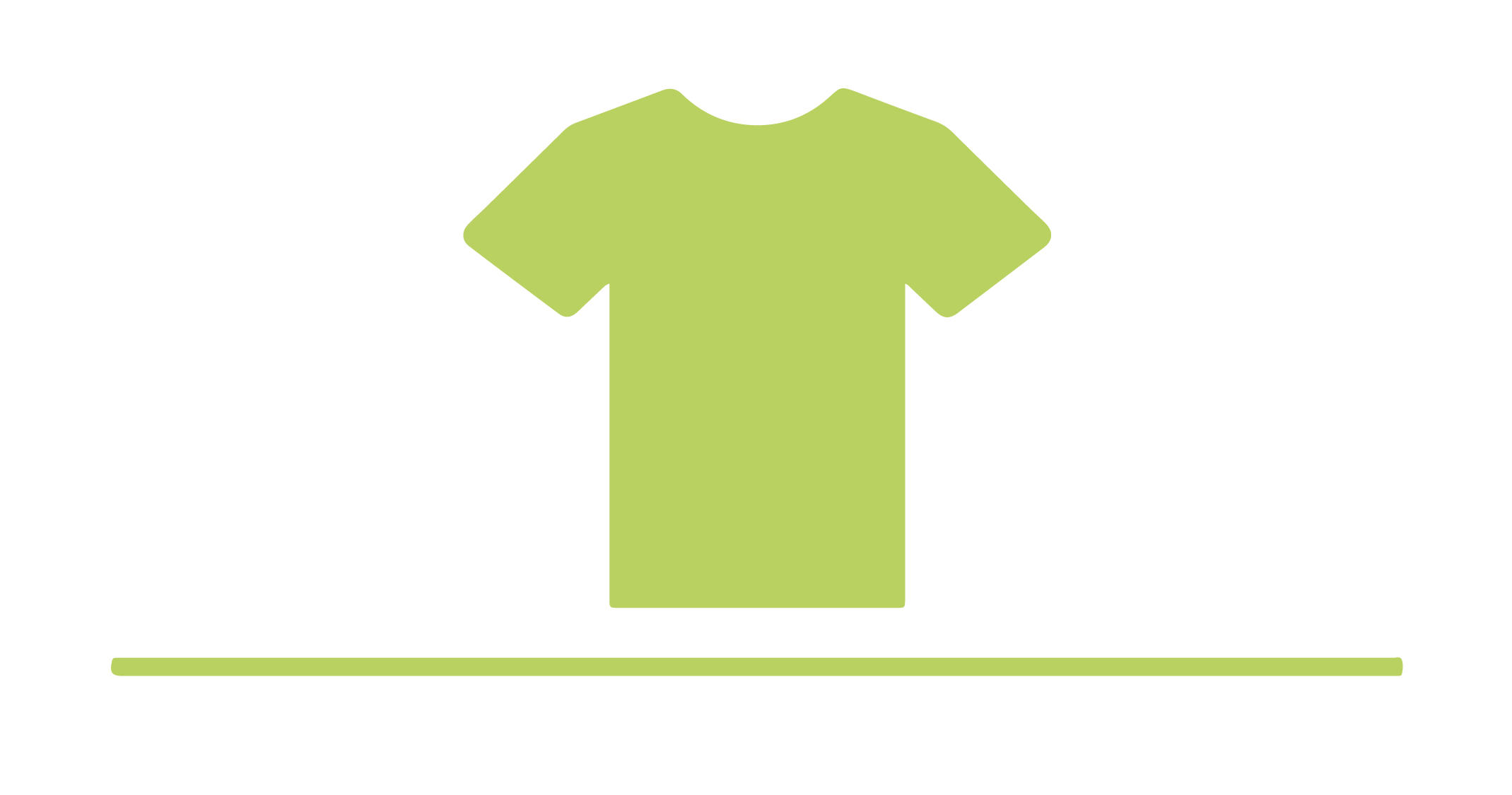 Illustration of a green t-shirt.