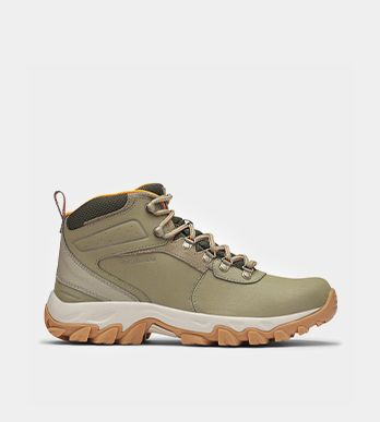 A pair of hiking boots for men.