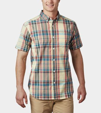 A button-up shirt for men.