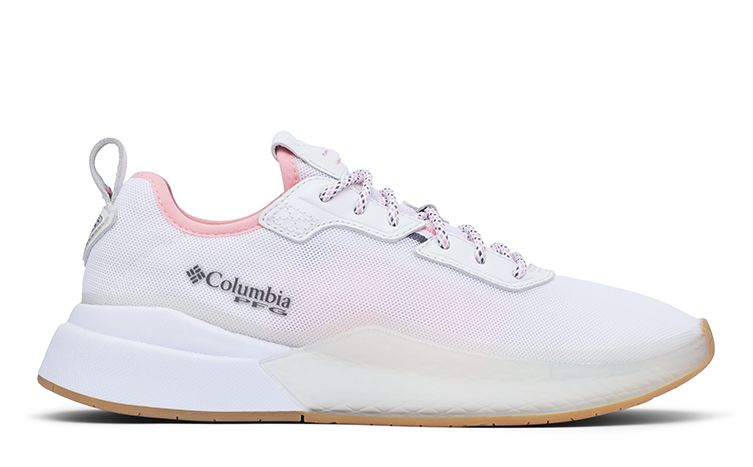 A PFG Low Drag shoe in white with pink detailing.