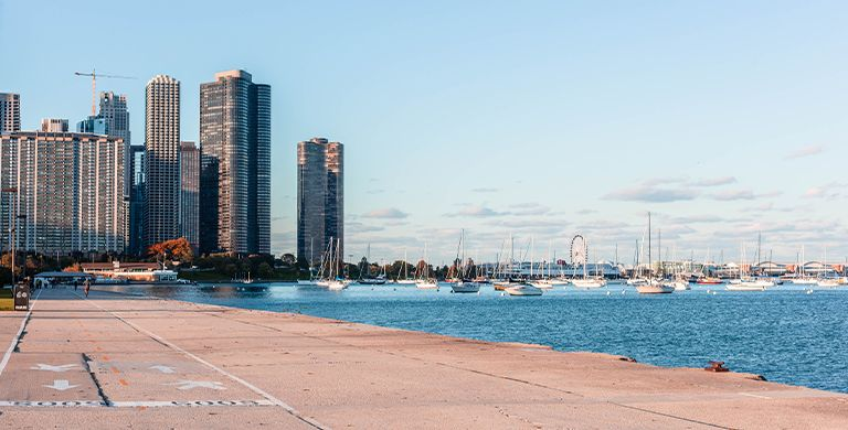 Chicago's Lakefront Trail.