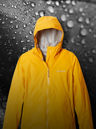 Raindrops and a rain jacket.