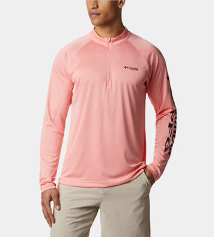 Man in a long sleeve PFG shirt.