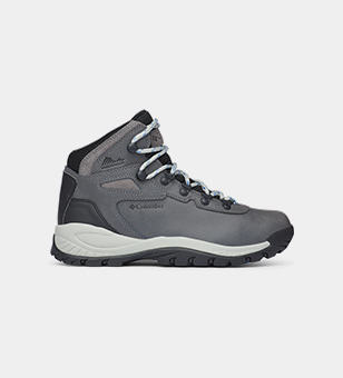 A grey hiking boot.