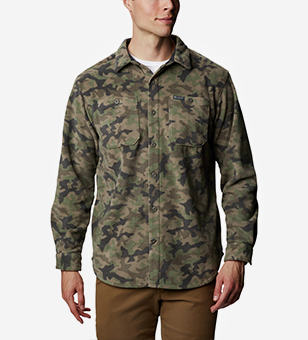 A hoodie with a camo print.