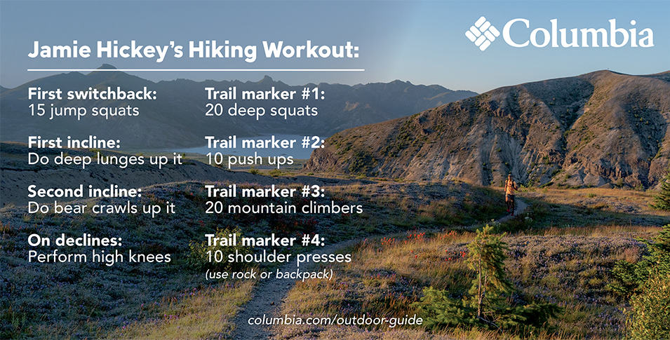 Jamie Hickeys hiking workout.