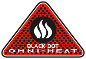 Omni-Heat Black Dot badge