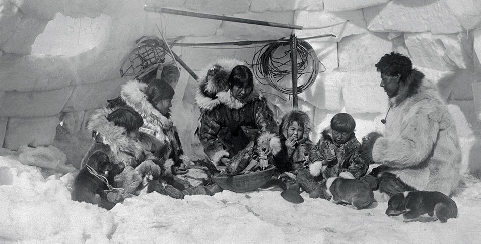 Historical photo of Inuits in Canada.