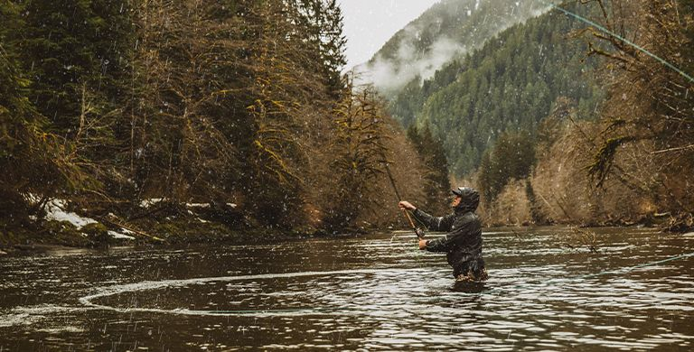 After COVID-19 rerouted his sailing trip, pro-snowboarder and fly-fishing guide Curtis Ciszek encountered formidably turbulent waters—and was reminded that cold-weather fishing is more rewarding than you think