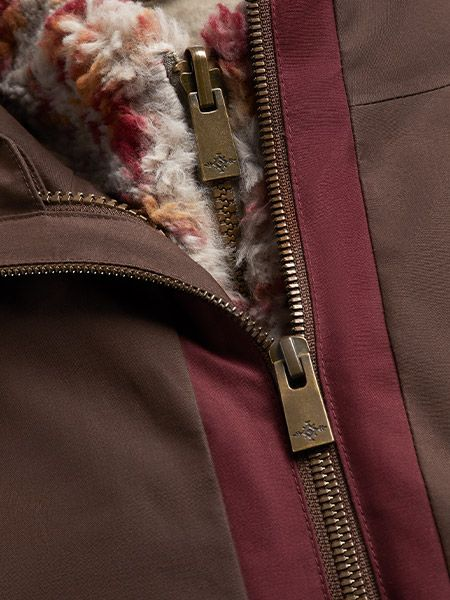 Close up of zippers