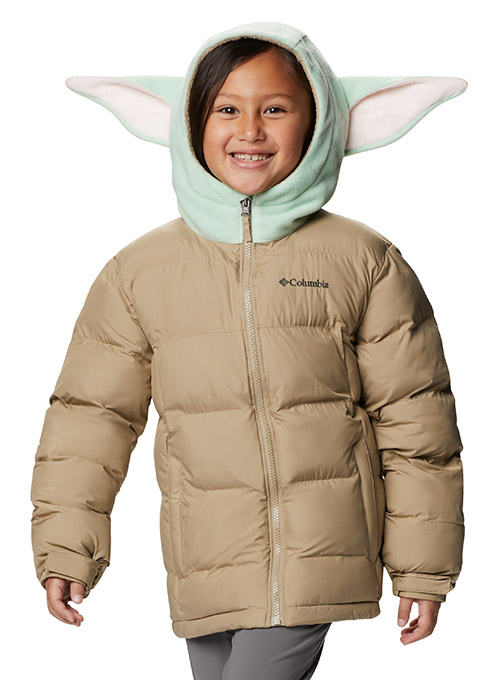 Child jacket with hood and ears.