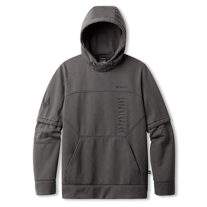 Front view of the Mando hoody.
