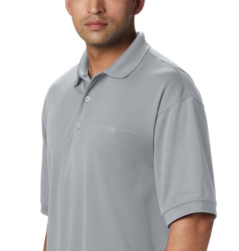 Perfect Cast™ Polo Shirt | 019 | 5X Men's PFG Perfect Cast™ Polo Shirt - Big, Cool Grey, a1