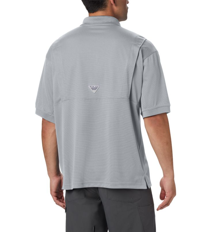 Perfect Cast™ Polo Shirt | 019 | 4X Men's PFG Perfect Cast™ Polo Shirt - Big, Cool Grey, back