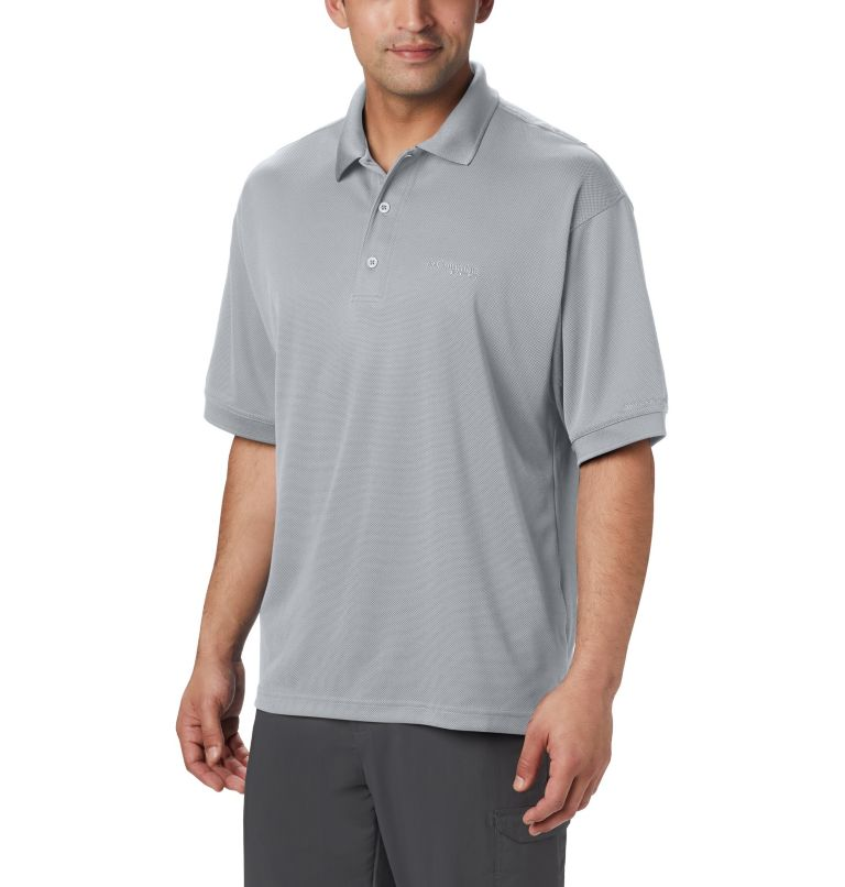 Perfect Cast™ Polo Shirt | 019 | 5X Men's PFG Perfect Cast™ Polo Shirt - Big, Cool Grey, front