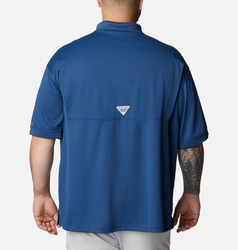 Perfect Cast™ Polo Shirt | 469 | 4X Men's PFG Perfect Cast™ Polo Shirt - Big, Carbon, back